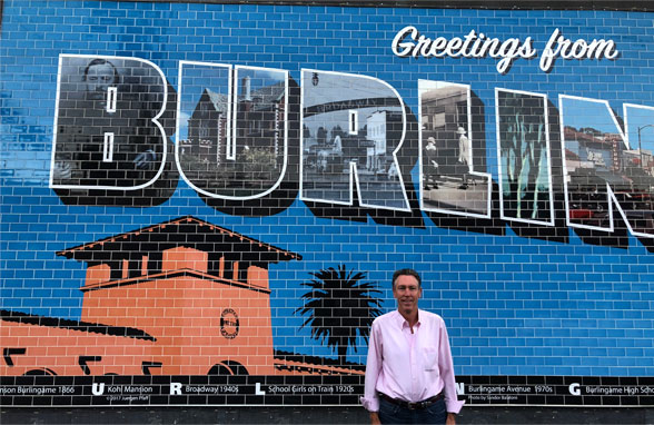Greetings from Burglingame mural